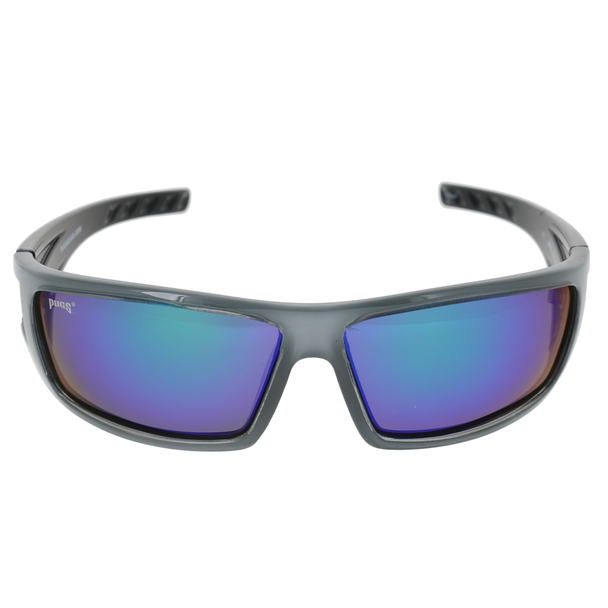 Shiny Crystal Clear-Silver with Black Back Spray Frame Smoke Lens