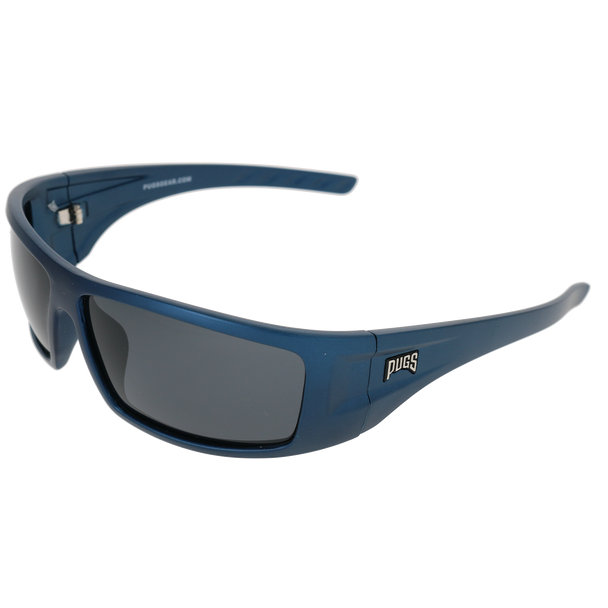Matte Metallic Blue Frame Smoke Lens