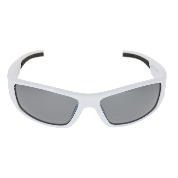 Shiny White Frame Black Rubber Tips Smoke Lens