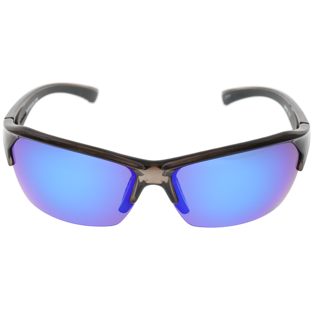 Matte Black Grey Rubber Frame Blue Multi-Mirror Lens
