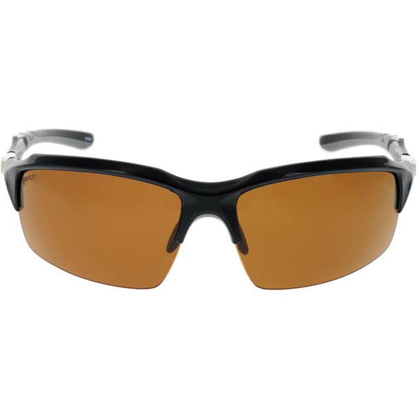 Matte Black Frame Gray Rubber Brown Lens