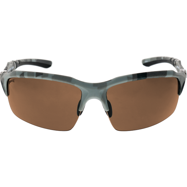 Digital Camo Print Frame Black Rubber Brown Lens