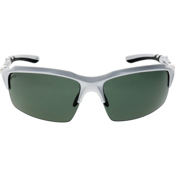 Matte Gray-Black Stripe Frame Black Rubber Smoke Lens
