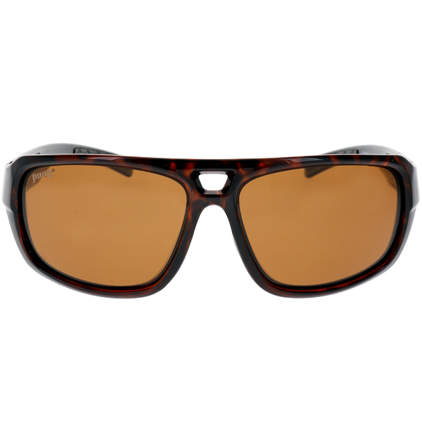 Shiny Brown Demi-Silver-Black Frame Brown Lens