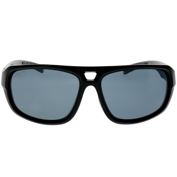 Shiny-Matte Black Frame Smoke Lens