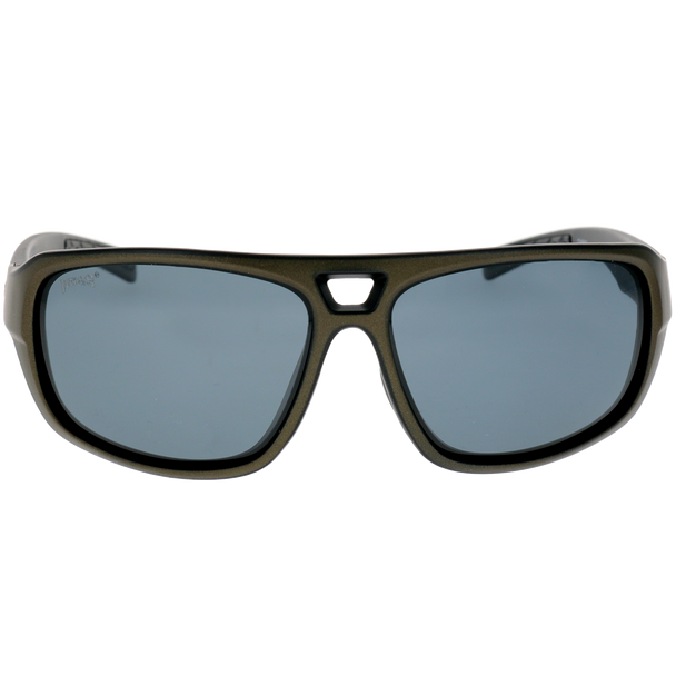 Matte Black-Metallic Gray Frame Smoke Lens