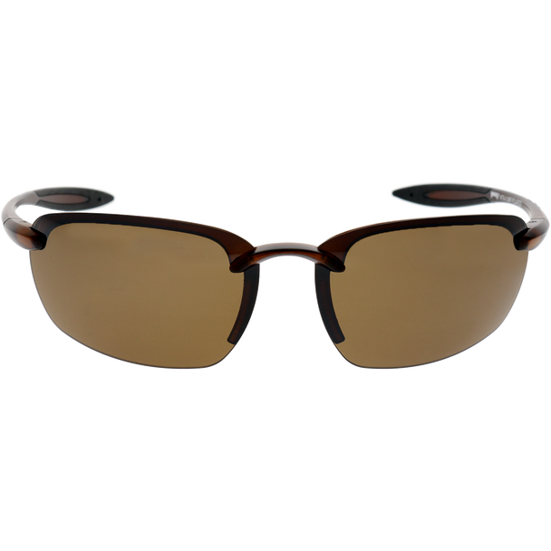 Matte Crystal Brown Black Rubber Brown Mirror Lens