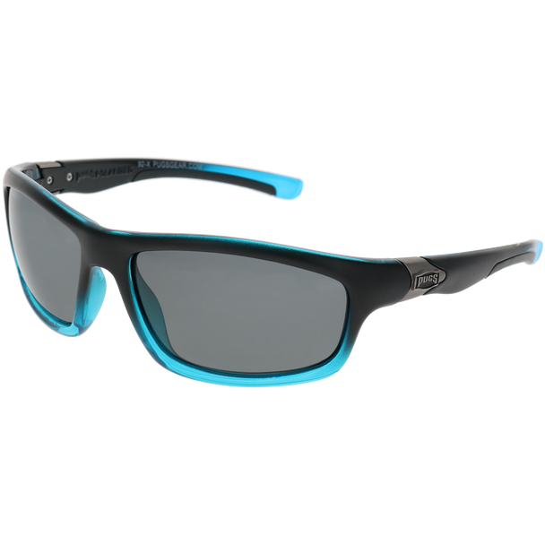 Matte Black-Crystal Bright Blue Gradient Frame Smoke Lens