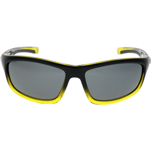 Matte Black-Crystal Bright Green Gradient Frame Smoke Lens