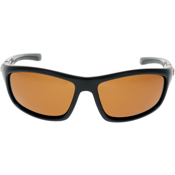 Shiny-Matte Black Frame Brown lens