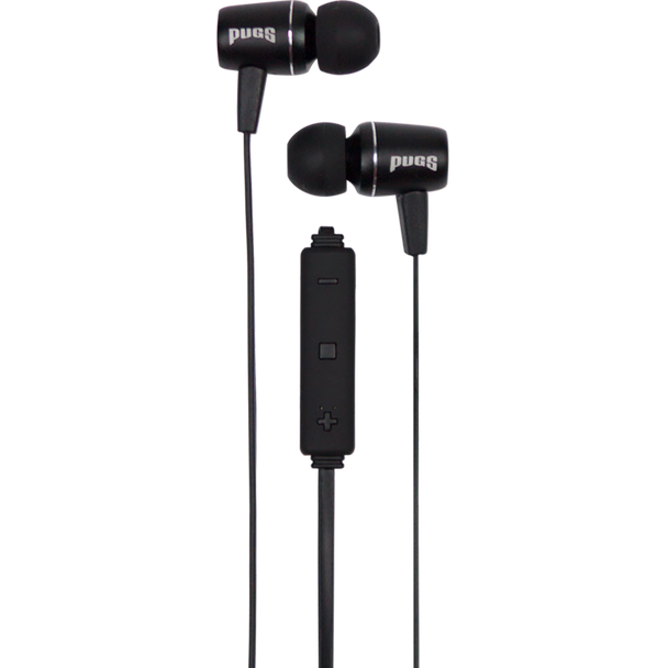 Black Wireless Earbuds with inline volume control