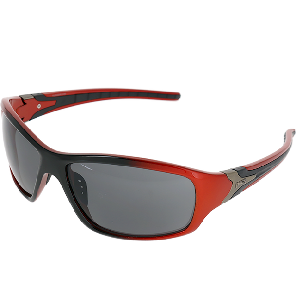 Shiny Metallic Red-Black Fade frame Smoke lens