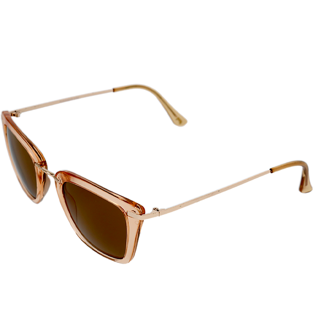 Crystal Champagne frame Brown lens