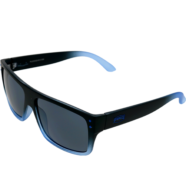 Matte Black-Crystal Blue Fade frame Smoke Mirror lens
