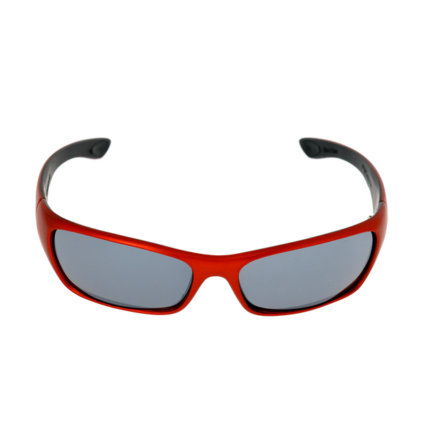Rectangle Matte Metallic Orange frame Smoke Mirror lens