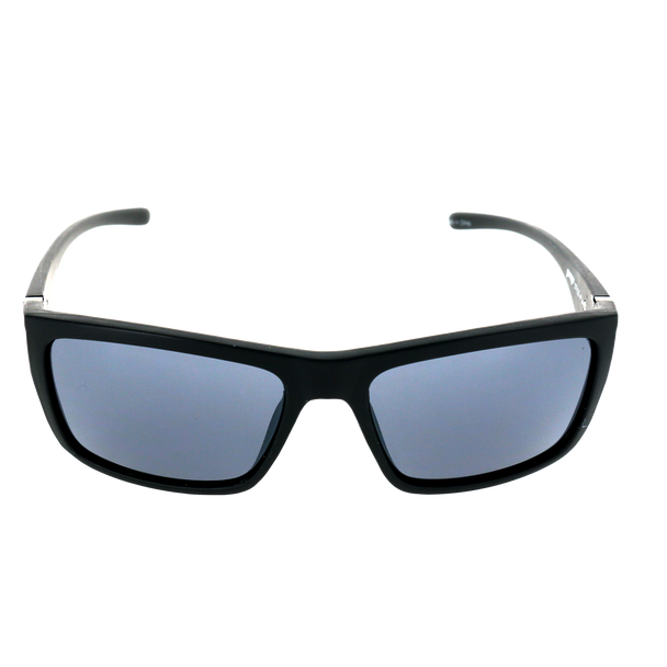 Matte Black frame w Splash temple Smoke Mirror lens