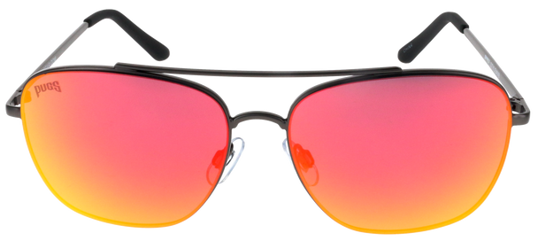 Matte Gunmetal Frame, Black-Red Multi-Mirror Lens