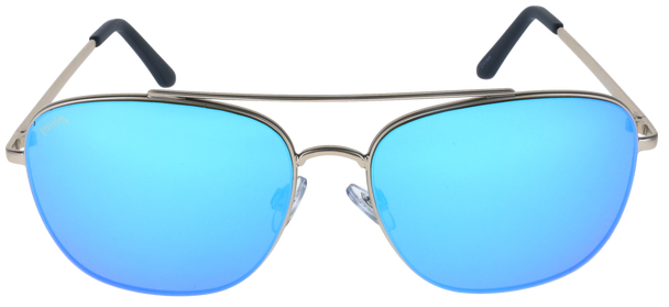 Satin Silver, Ice Blue Multi-Mirror lens