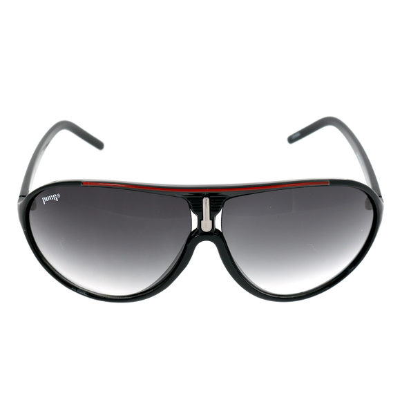 Shiny Black Red Line Frame Smoke Gradient Lens