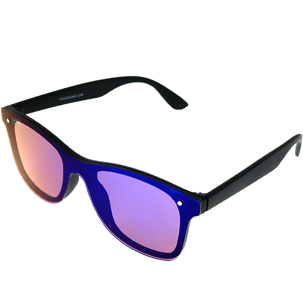 Matte Black frame Purple Mirror lens