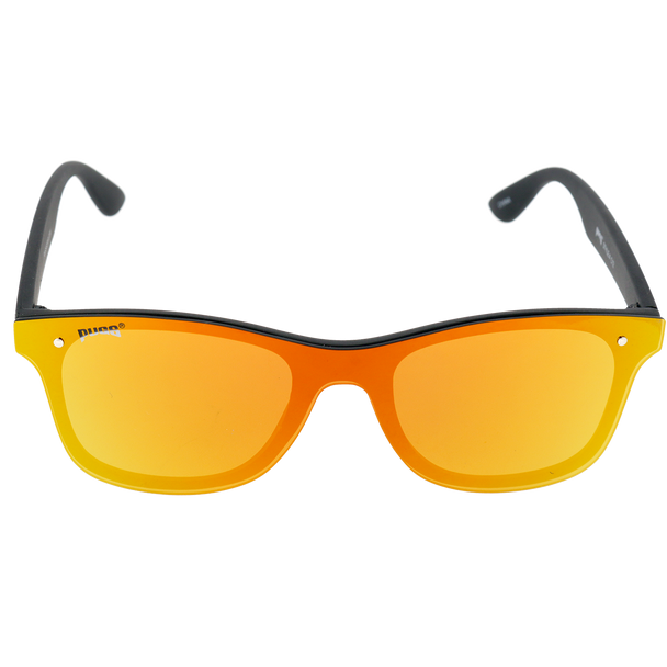 Matte Black frame Red-Yellow Mirror lens