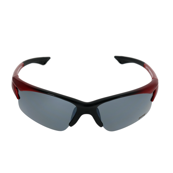 Shiny Metallic Red-Black Fade frame Silver Mirror lens