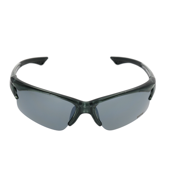 Shiny Crystal Green-Gray frame Smoke Mirror lens