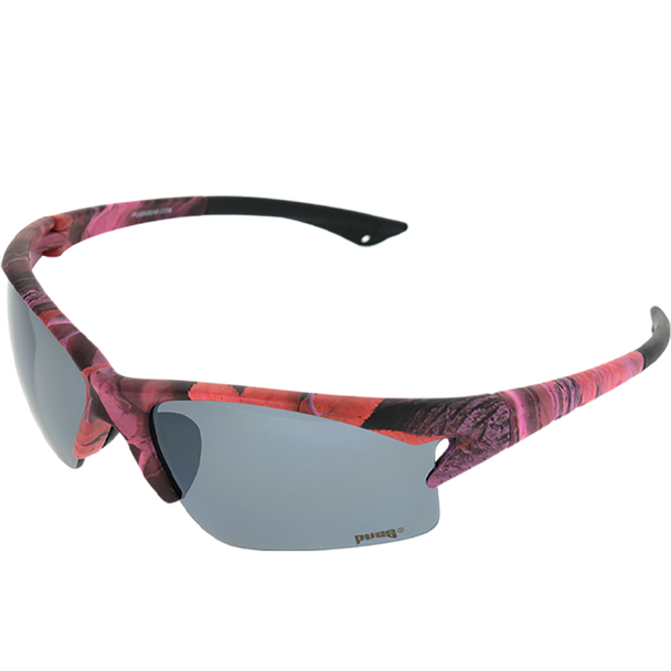 Muddy Girl Pink Camo frame Smoke Mirror lens