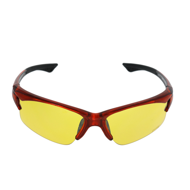 Shiny Crystal Orange-Black frame Yellow lens
