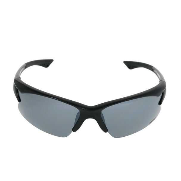 Shiny Black frame Smoke Mirror lens
