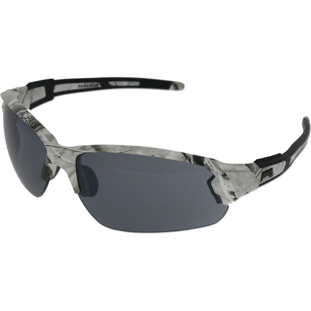 Matte White Camo Frame Matte White Camo-Black Rubber Tips Smoke Flash Mirror Lens