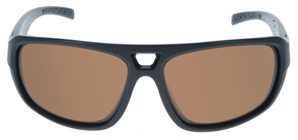 Shiny Black-Matte Black frame, Brown Hydrophobic Polarized lens