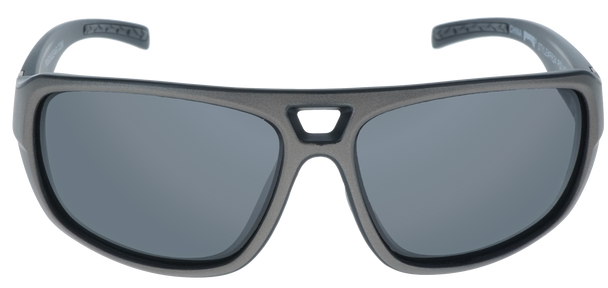 Matte Metallic Gray- Matte Black frame, Smoke Hydrophobic Polarized lens