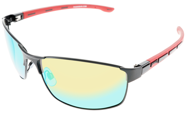 Satin Gunmetal frame, Green Multi-Mirror Polarized lens