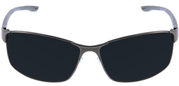 Shiny Gunmetal frame, Smoke Polarized lens