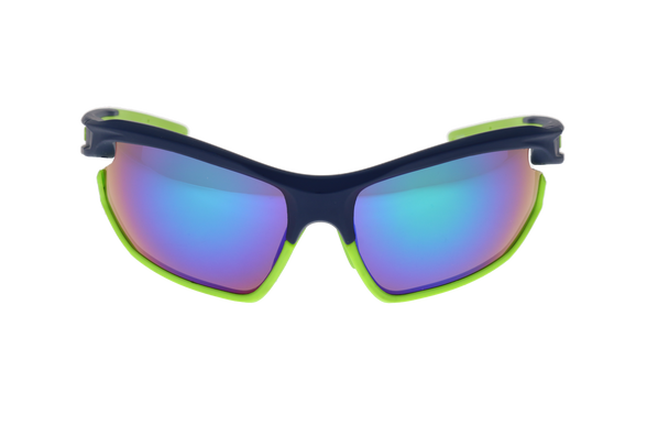 Matte Navy/Lime Green, Green Multi-Mirror Lens