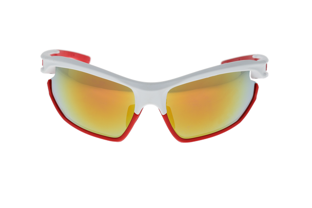 Matte White /Red, Smoke lens