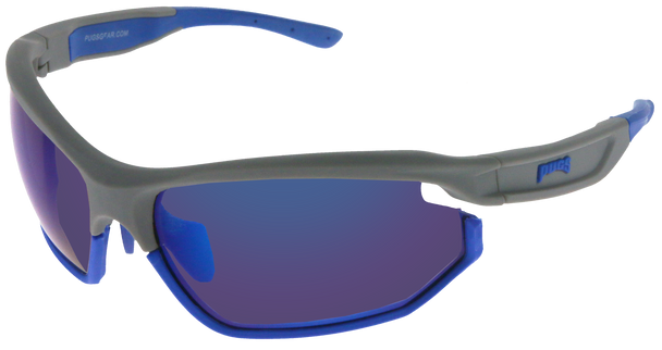 grey/dark blue / blue multi mirror lens