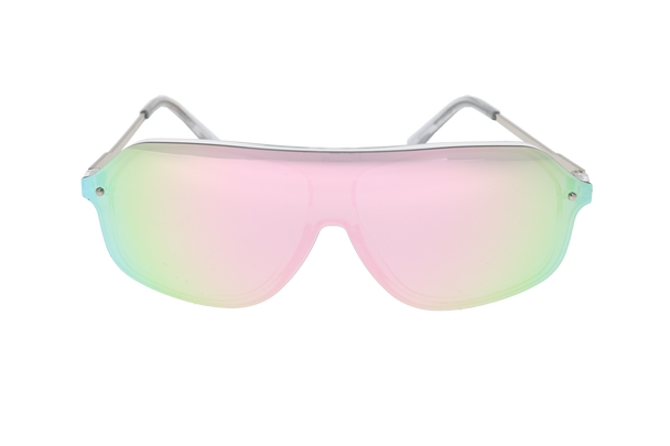 Shiny Crystal Clear, Pink Multi-Mirror lens