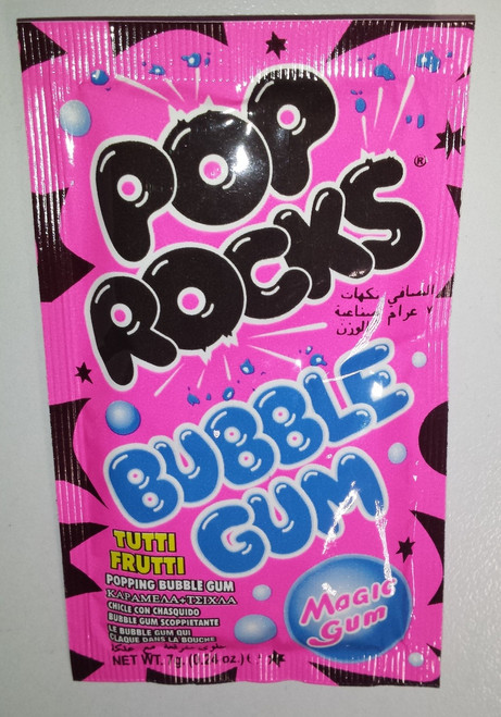 Pop Rocks - Bubble Gum - Tutti Frutti Flavour