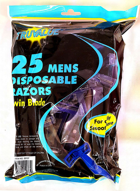 25 pk disposable mens shaver