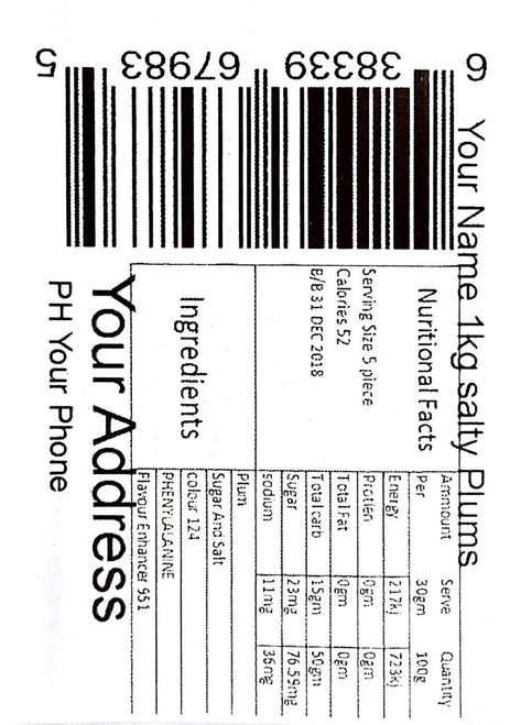 Your own printed labels