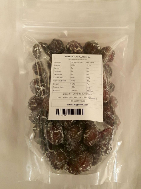 sweet salty plum 500gm