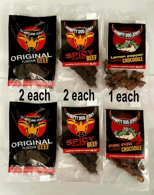 Humpty doo jerky full NT made jerky sample pack.