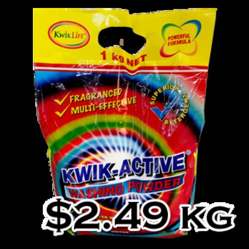 Kwik Active 1kg Top Loading washing Powder