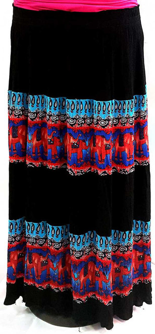 Pleated Long Skirt One Size