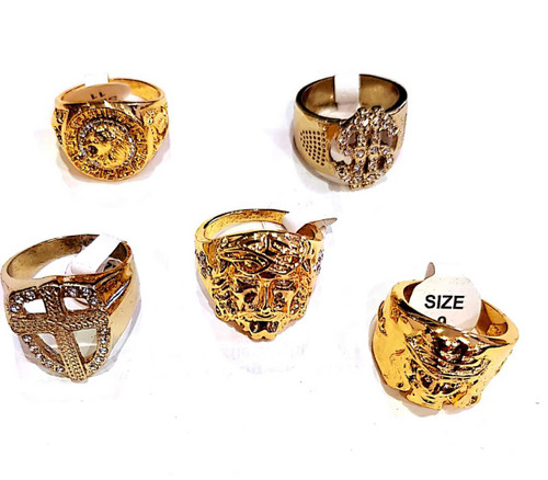 Gangster Fashion Rings 5pk