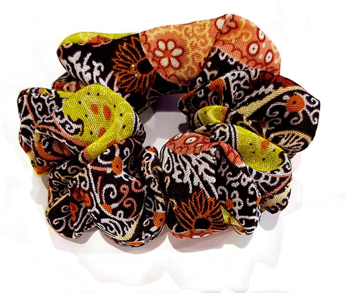 Colourful scrunchies