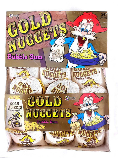 Gold Nuggets bubble Gum carton 24 Units