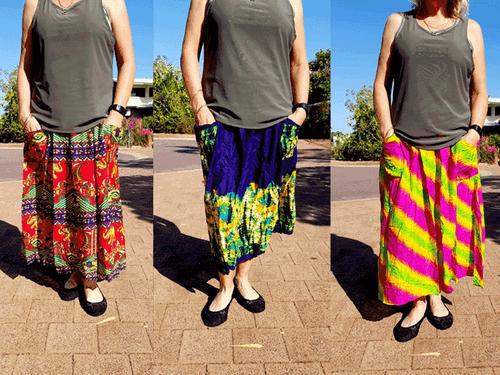 3 pack Bali Skirt Delivered